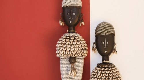 African artifacts available at MakeAfrica at Old Nick Village