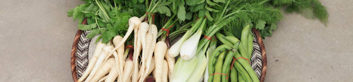Organic vegetables at the Old Nick mid week market