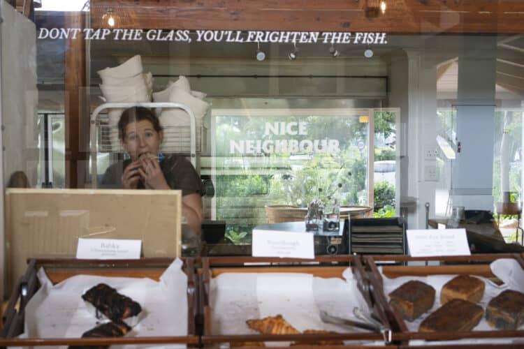 Feeding Fish bakery at Old Nick Village