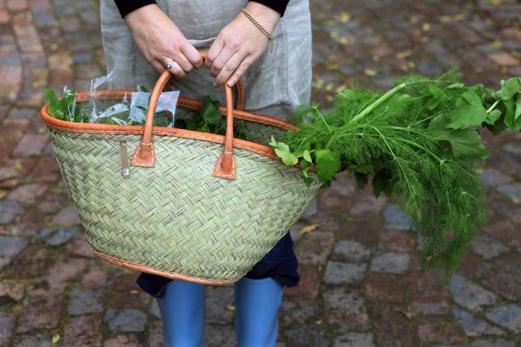 Organic vegetables at the Old Nick midweek market