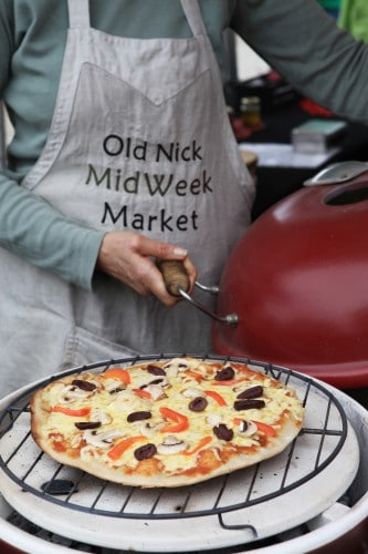 Wood fired pizza and other delicious foods