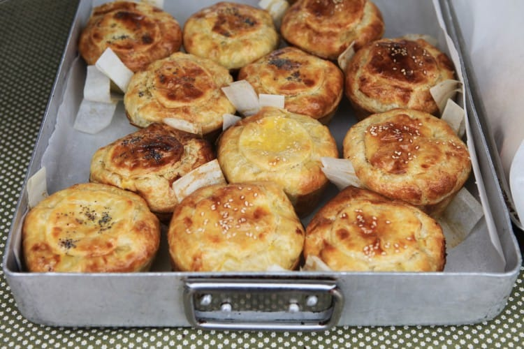 Pies and other tasty goodies at the Old Nick Midweek market